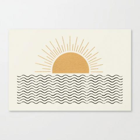 Sunrise Ocean Canvas Print