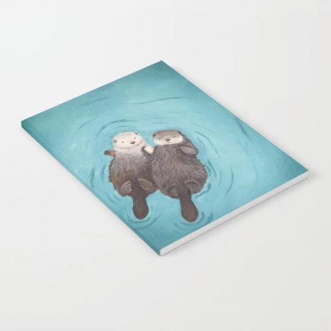 Otterly Romantic Notebook