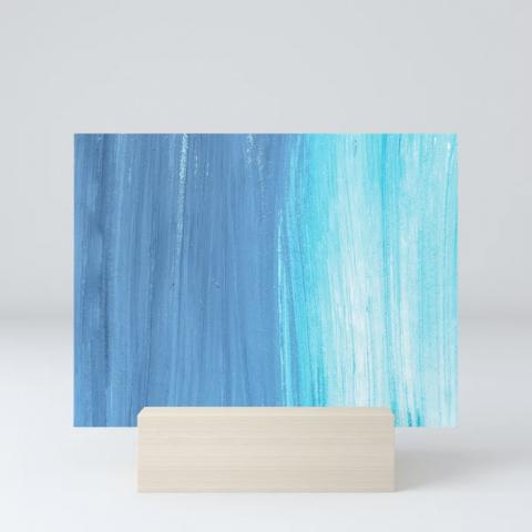 Shades Of Blue Mini Print