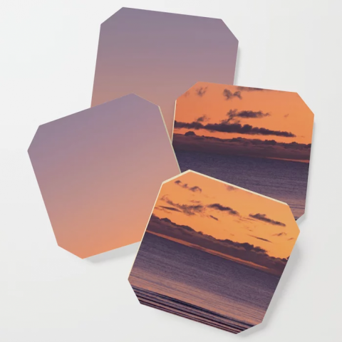 Gradient Sunset Coasters
