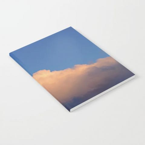 Orange Sunset Cloud Notebook