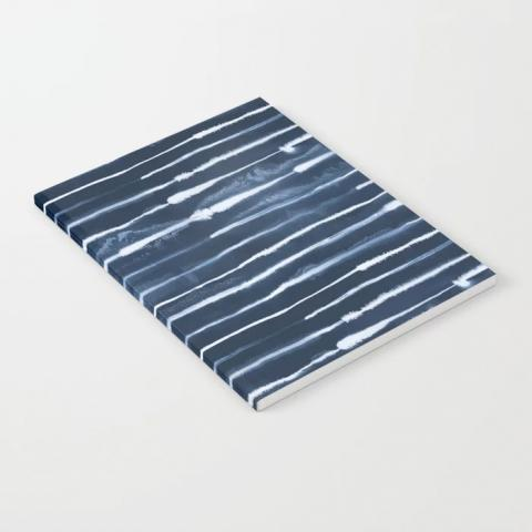 Electric Ink Indigo Navy Stripes Notebook